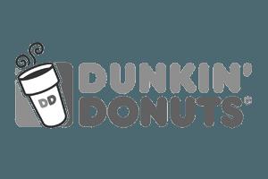 dunkin donuts gray logo