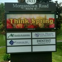 Morgantown Road Business Sign