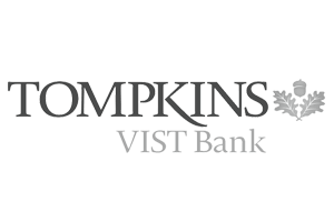 Tompkins VIST Bank Gray Logo