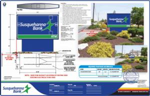 bank sign blueprints