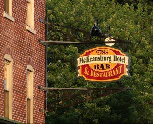 mckeansburg hotel bar restaurant sign