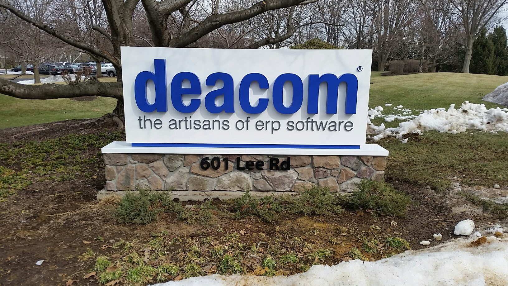 Deacom sign by Bartush Signs