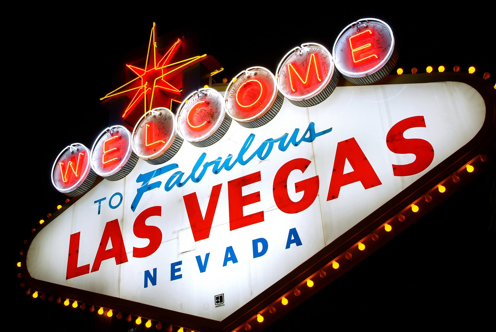 Classic Welcome to Fabulous Las Vegas neon sign, Nevada (USA)