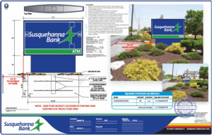 bank sign blueprints