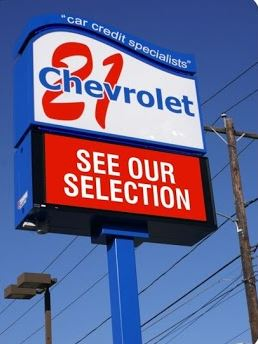 Chevrolet 21 sign