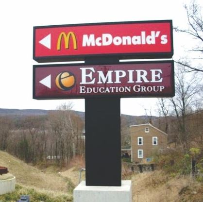 Outdoor Wayfinding Signs made by Bartush Signs