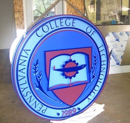 round sign for pa tech school