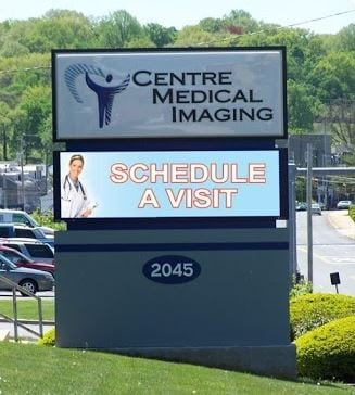 centre medical imaging led sign