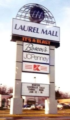 Laurel Mall Sign