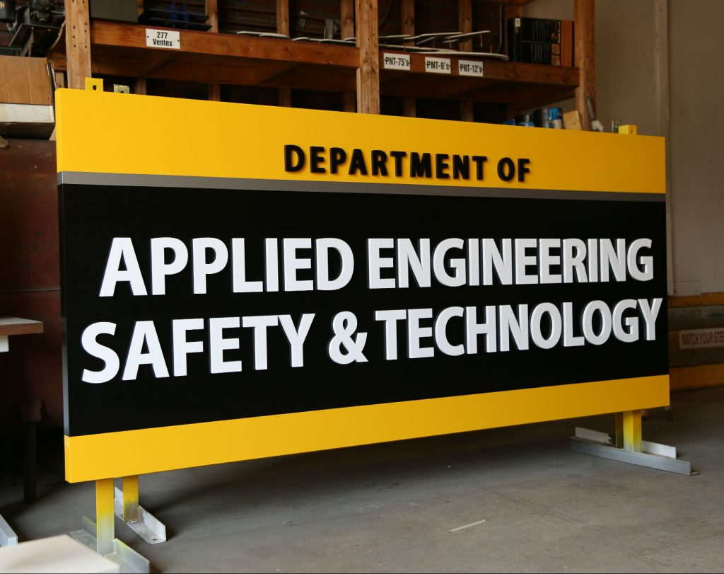 Millersville University applied engineering school sign