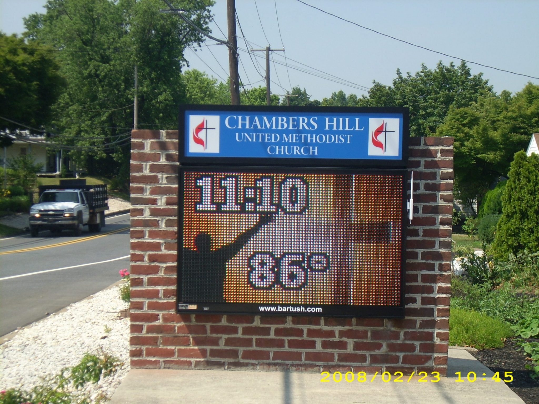 Chambers Hill United Methodist Church led sign