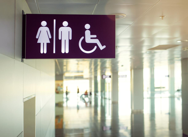 Indoor Restroom Sign