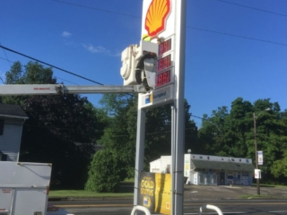 Shell Gas Station Sign