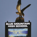 high school sign with eagle