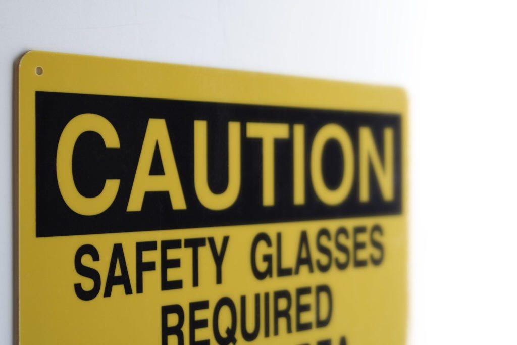 Caution Sign designed to OSHA standards