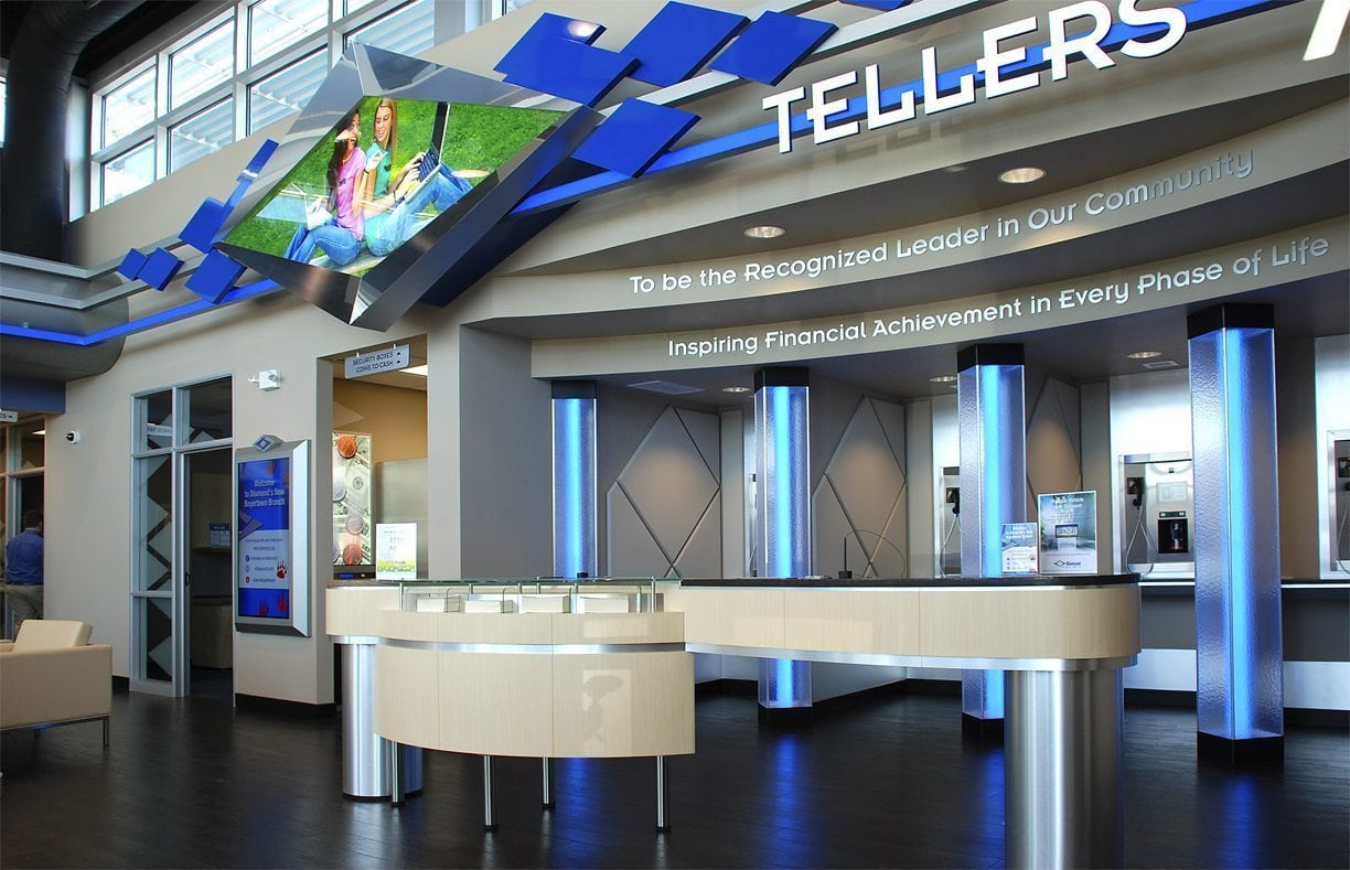 Diamond Credit Union Teller indoor sign