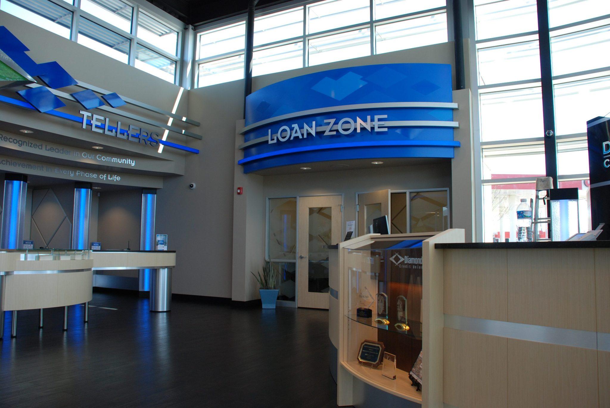 Loan Zone indoor sign