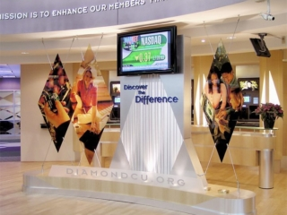 diamond credit union indoor sign and display
