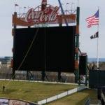 cocacola park allentown pa scoreboard installation sporting arena