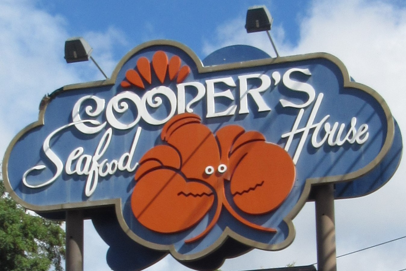 Cooper's Seafood house sign