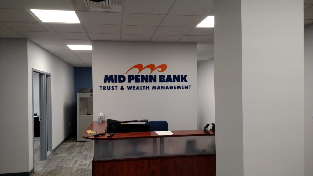 mid penn package canvas indoor sign