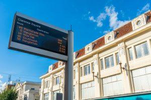 digital wait time sign