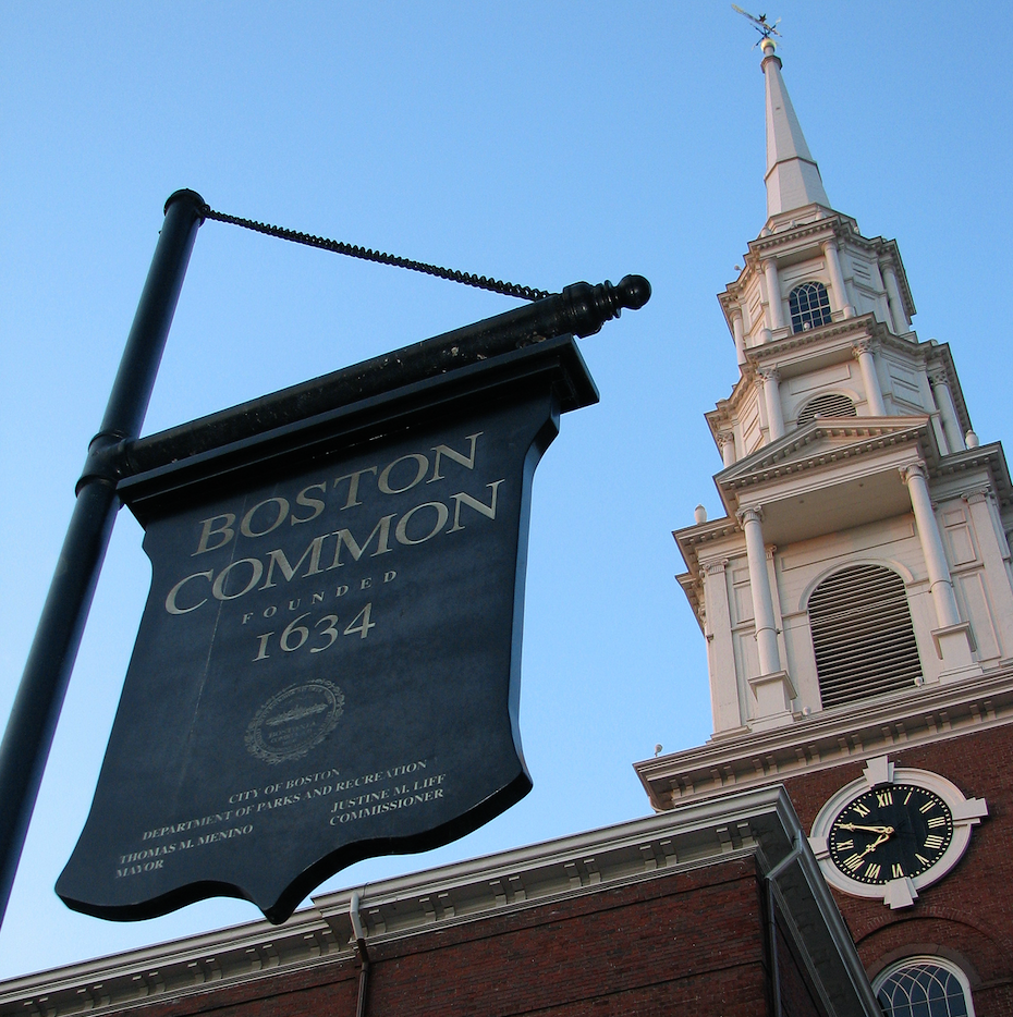 Boston Common Sign